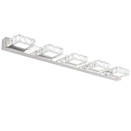 Klighten LED Lámpara de Espejo, 15W Aplique Espejo Baño LED Interior Blanco frío 5500K Iluminación de Bañera, Lámpara…