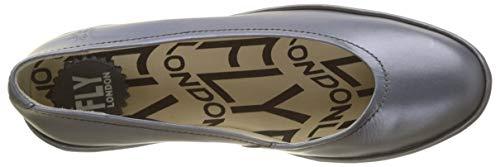 Chiusa London Fly 093 Donna Argento Ballerine graphite Punta Pump P6Cdxwqx