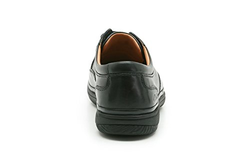 Clarks Swift Mile Mens Lace Up Shoes in Black or Mahogany Leather Black Leather