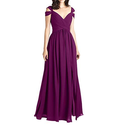 La Chiffon Partykleider Hell Lang Festlichkleider A Traube Linie Abendkleider mia Promkleider Elegant Braut Brautjungfernkleider rpqpRw