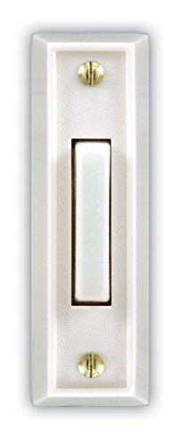 Heath Zenith SL-715-1-02 Wired Door Chime Push Button, White with White Lighted Center Bar (3)