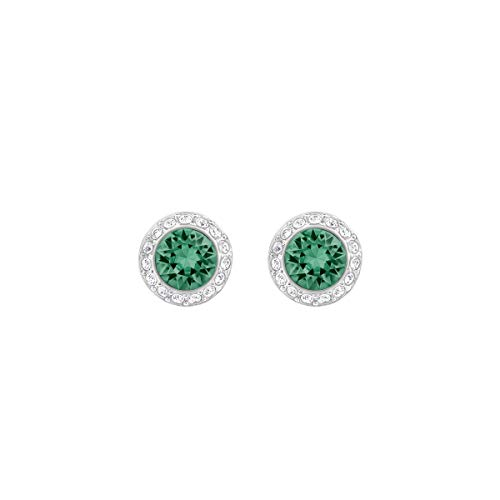 Swarovski Crystal Emerald Angelic Rhodium Plated Earrings ()