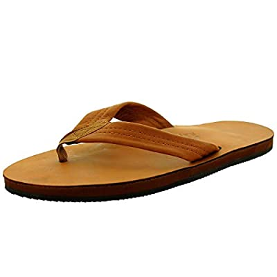 Rainbow Sandals Men's Premier Leather Single Layer Wide Strap with Arch