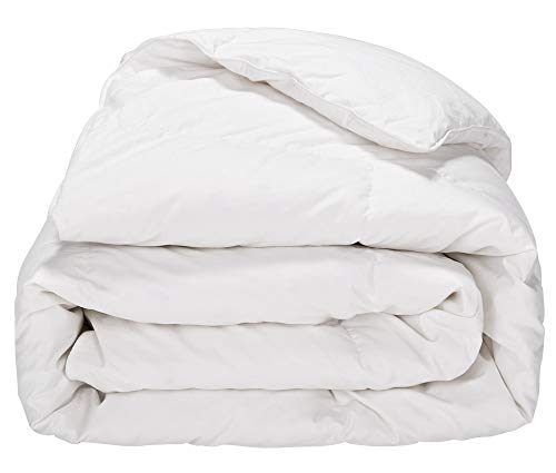 (PUREDOWN  White Down Comforter, Year Round Use, 100%Cotton, 600 Fill Power, 233 Thread Count , Twin Size, White)