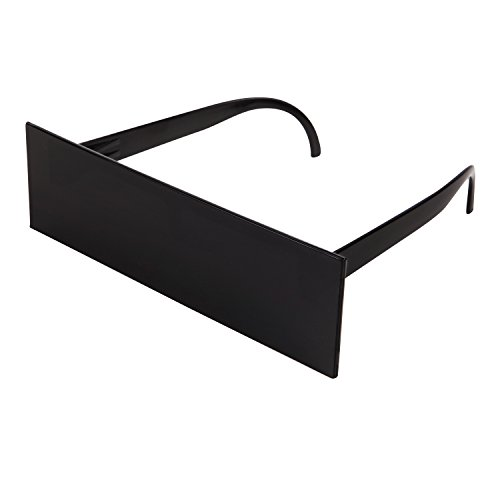 CENWOCON Black Bar Mosaic Sunglasses Deal With It Glasses Novelty Gag Gift for Gamer Thug Life Sunglasses - Bar Sunglasses