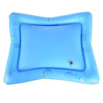 Children and Baby Inflatable Baby Water Pad Fun Activity Play Center&Toddler Outdoor Toys Blue: Clothing