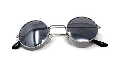 UV400 Vintage Rondes Elton Unisexe Espejadas Plata Qualité Soleil Classique Lunettes Femmes de Lentes John Retro de Plata Petit Hommes Style Con Lennon Adultes zIFPqwAx