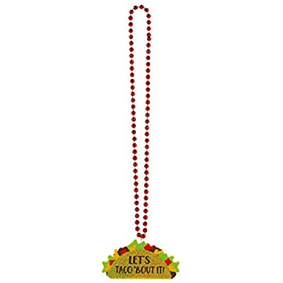 "Amscan 399824 Party Supplies Taco Glitter Bead Necklace, 36"", Multicolor: Toys & Games [5Bkhe0500506]"