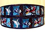 5 yards 7/8 Nightmare Before Christmas Grosgrain Ribbon