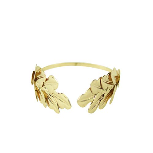 Gold Metal Caesar Leaf Crown Headband King