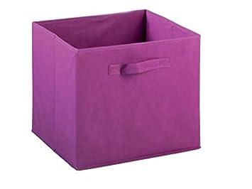 ASTIGARRAGA Caja Plegable de Tela sintética Color Rosa, 31x31x31: Amazon.es: Hogar