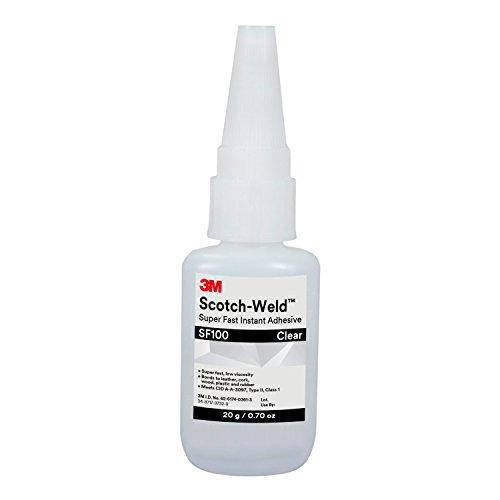 - 3M Scotch-Weld 62631 Super Fast Instant Adhesive SF100, 20 g Bottle, 0.676 fl. oz.