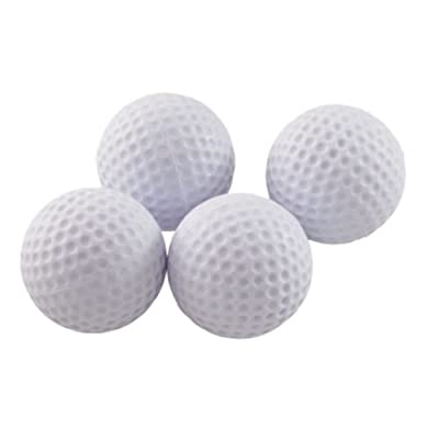Short Flight Foam Practice Golf Balls White 4 ct