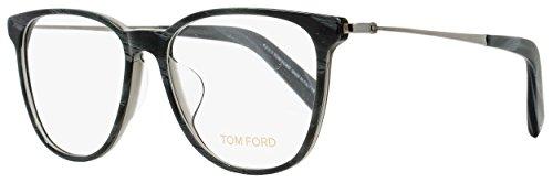 Tom Ford Oval Eyeglasses TF5384F 020 Size: 53mm Gray Horn/Ruthenium - Vision Tom Glasses Ford