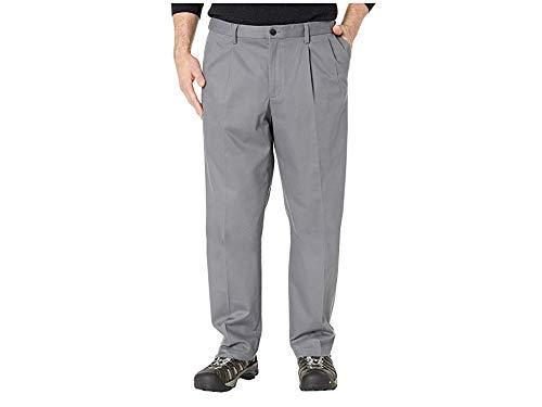 Dockers Men's Big & Tall Classic Fit Signature Khaki Lux Cotton Stretch Pants - Pleated Burma Grey 56 30