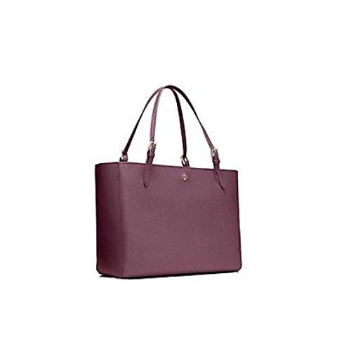 Tory Burch Small York Buckle Tote Saffiano Leather Plum - Bag Tory Burch Purple