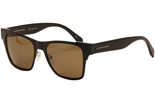 Sunglasses Alexander McQueen AM0011S AM 0011 11S S 11 BLACK / BROWN / - Mcqueen Men Sunglasses Alexander