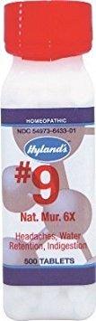 Nat Mur 6x (500Tablets) Tissue Salt (Cell Salt) Brand: Hylands (Standard Homeopathic)