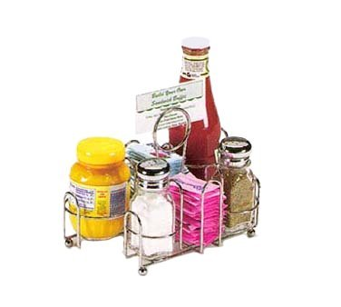 Dripcut Salt (Vollrath Dripcut Wire Rack Condiment Caddy, chrome, 8-7/8