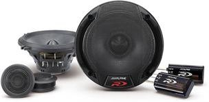 Alpine Spr-50c 5.25-Inch 2 Way Pair of Component Car Speaker System