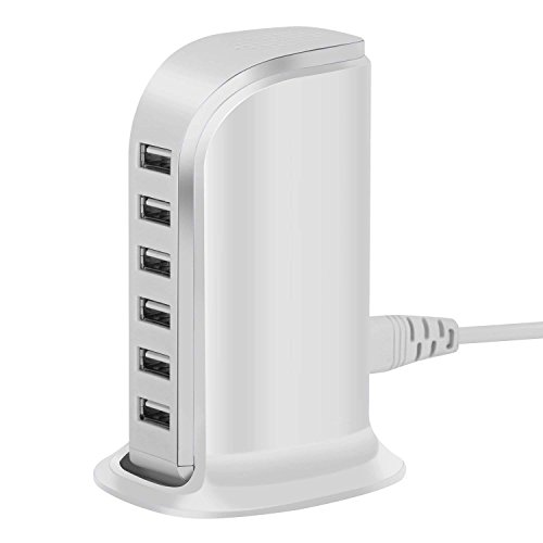 Usb Wall Charger 6-Port Desktop Charger, Vid Goo Travel Charging Station25
