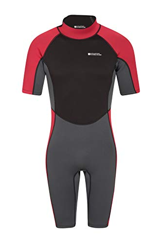 Mountain Warehouse Shorty Mens Wetsuit - Neoprene One Piece Swim Suit Grey - Shorty Mens Shorts