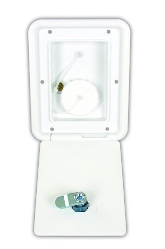 JR Products A6112-A Polar White Key Lock Gravity Water Hatch