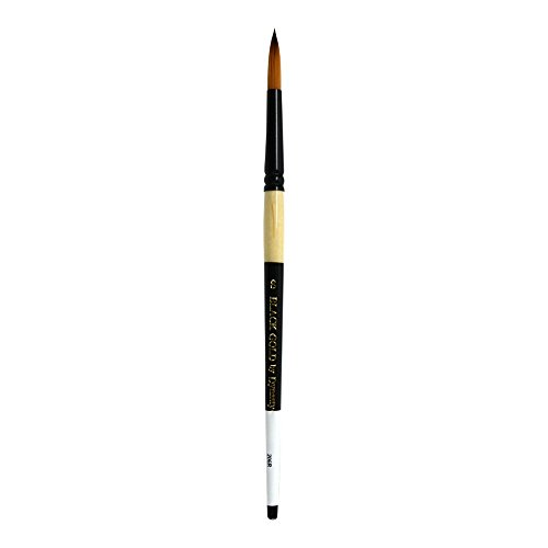 Dynasty Black Gold Series Synthetic Brushes Short Handle 8 round by DYNASTY