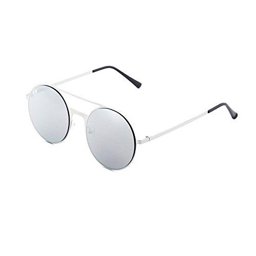 Plata de degradadas sol Plata mujer FRIDA Gafas espejo TWIG qdR0RwA