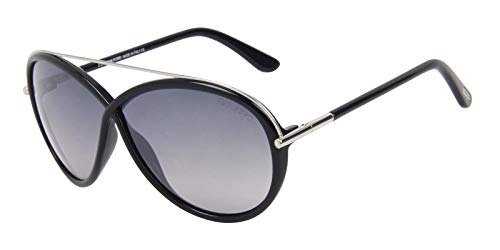 Tom Ford Women's FT0454 Sunglasses, Shiny Black for $<!--$138.00-->
