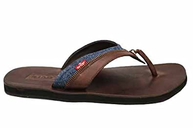 323cf02cb7c Image Unavailable. Image not available for. Color  Mens Levis Ovy Leather Flip  Flops Summer Sandals 13