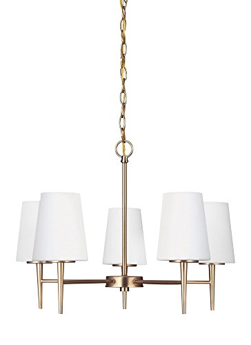Sea Gull Lighting 3140405EN-848 5LT Chandelier, Satin Bronze