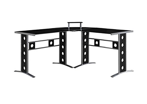 Coaster L-Shaped Computer Desk, Black by Coaster Home Furnishings