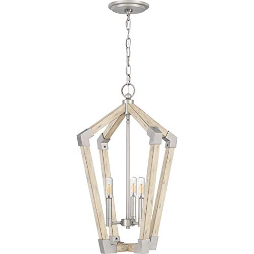Quoizel FB5203AN Fable Modern Farmhouse Chandelier, 3-Light, 180 Watts, Antique Nickel (24