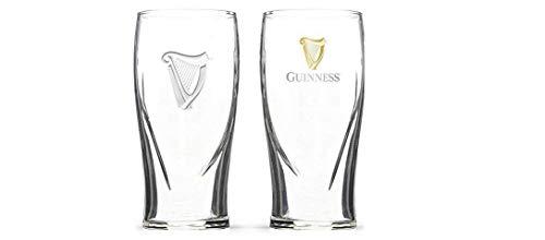 (Guinness Irish Pint Beer Glasses 16oz - Set of 2)