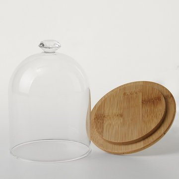 Atoz Prime 90mm Glass Display Dome Clothe Bell Jar Flower