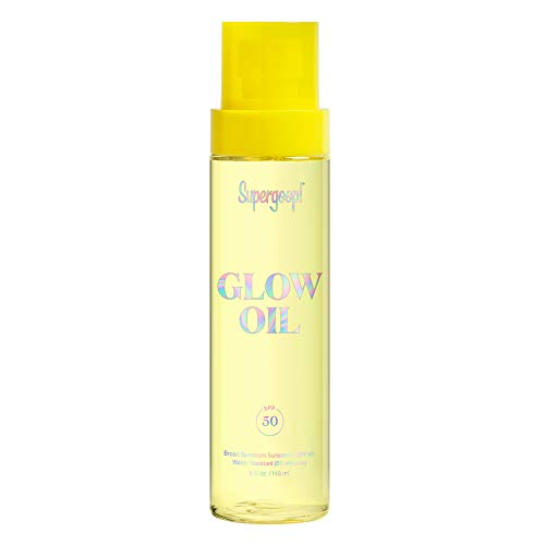 Supergoop! Glow Oil SPF 50, 5 fl oz – Hydrating, Reef-Safe Vitamin E Body Oil with Broad Spectrum Sunscreen Protection…