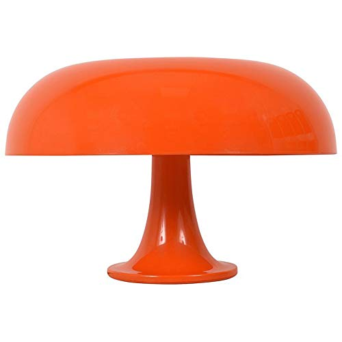 Nesso Mid-Century 80W Table Lamp with Mid-Century, Futuristic Design for Living Rooms, Bedrooms, Office Space (Orange) ()
