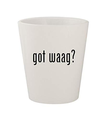 got waag? - Ceramic White 1.5oz Shot Glass -