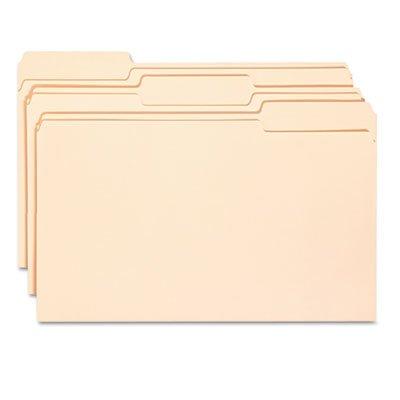 Antimicrobial File Folders, 1/3 Cut Top Tab, Legal, Manila, 100/Box ()