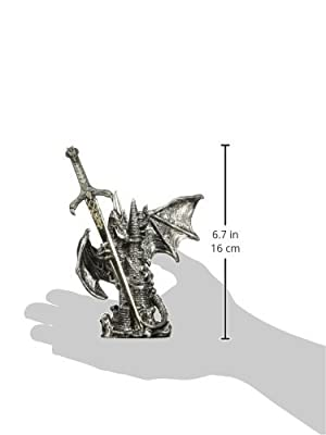 Dragon Collection with Sword Collectible Fantasy Decoration Figurine