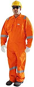 Vaultex-Full Cotton Orange Color Coverall With Reflective Tape - 3XL