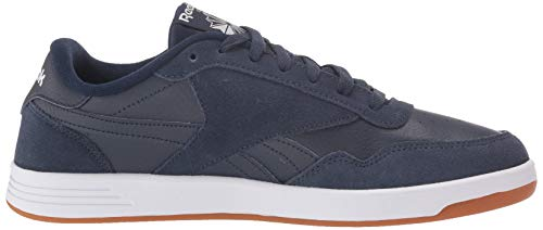 Reebok Men's Club MEMT Sneaker, Navy/Silver/White, 14