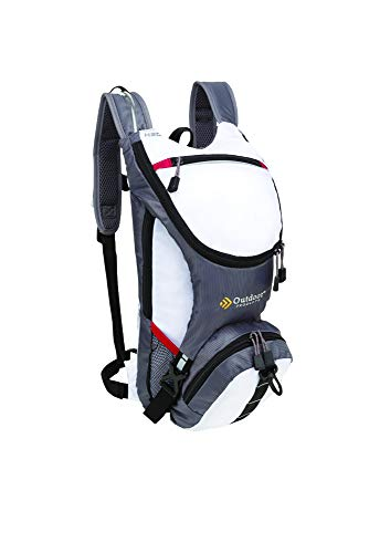 Outdoor Products Ripcord Hydration Pack with 2-Liter Reservoir, 3.6-Liter Storage, Bright White