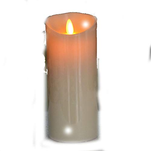 Fay Waters Candle USB Powerd Rechargeable Led Flickering Pillar Paraffin Wavy Edge Moving Wick Wedding Xmas Party Home Decor ()