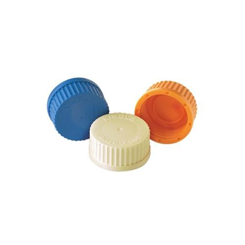 Kimble Chase 14395C-457 GL 45 Color Coded Screw Cap, Internal Molded Seal Ring, 140 Degree C Maximum Temperature, Polypropylene, Green (Pack of 10)