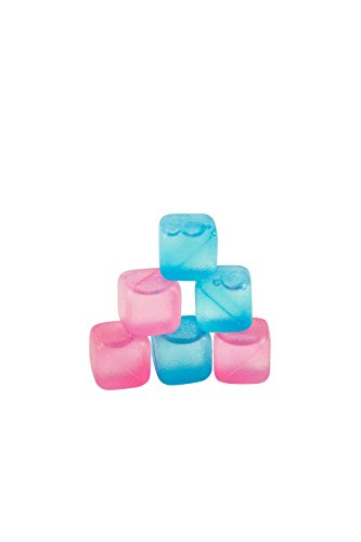 - Chill Ice: Plastic Ice Cubes 12 ct. (6 Blue + 6 Pink)