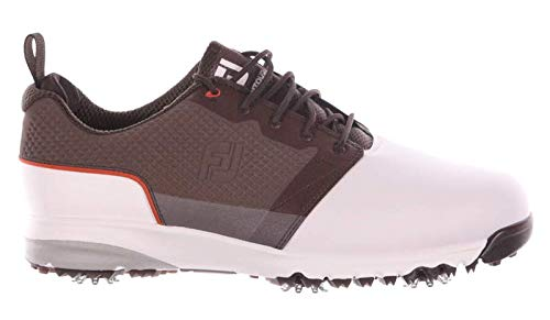 FootJoy メンズ ゴルフシューズ ContourFIT M 10.5 ホワイト/ブラウン   B07KRJTNCV