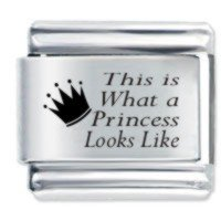 What a Princess Looks Like Etched Italian Charm Fits Nomination Classic jyqOwk