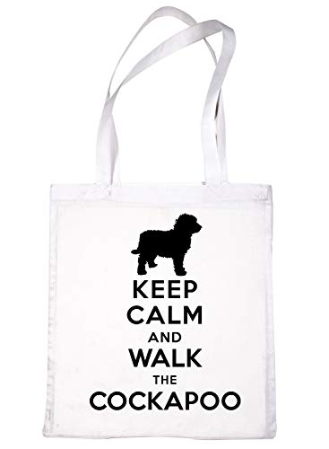 White Tote Shopping Bag Cockapoo Calm Print4u amp; Keep Walk Dog 1zqnx5